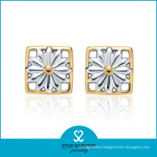 Gold Plated Silver Stud Earrings (SH-E0038)