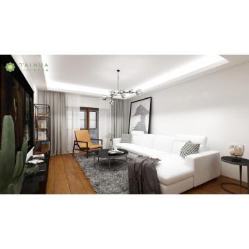 Snow White Living Room Sofa L Shape