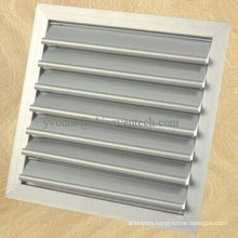 HVAC Systems Ventilation White Color Aluminum Gravity Louvers
