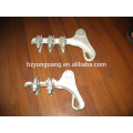 overhead line fitting strain tension clamp cable clamp electric power transmission line fitting pole hardware fitting