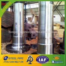 Большой кованый стальной турбинный вал Пзготовителей