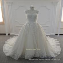 Novo estilo pesado Beading vestido de noiva de renda