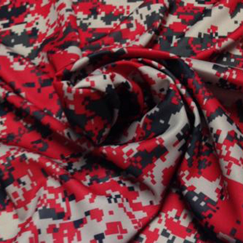 red camouflage fabric