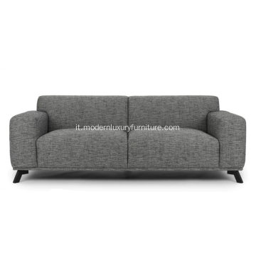 Volu Licorice Cream Fabric Sofa