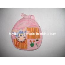 Plush Handbag Animal Head Bag Plush Backpack