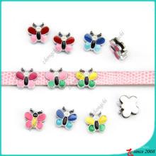 Pequeña mariposa colorida encantos Slider DIY joyería (SC16040958)