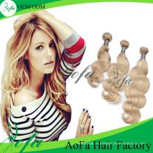 100% человеческих волос Remy девственницы Индийские волосы на теле волны