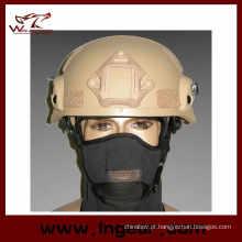 Mich 2002 capacete tático com Nvg Mount & versão de ação de ferroviário do lado