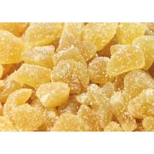 Pedaços de gengibre cristalizado