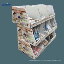 La exhibición de alta calidad de la plataforma de la cartulina para la botella de agua, recicla el soporte de exhibición de la plataforma del supermercado