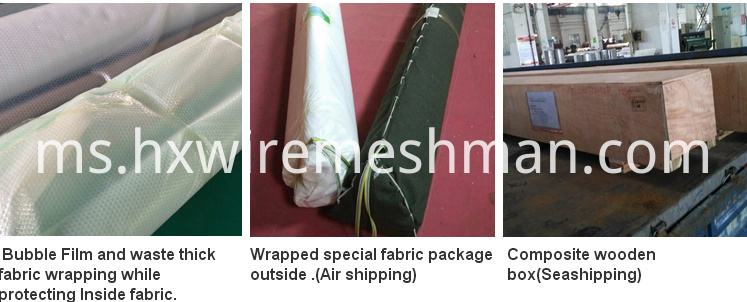 polyester screen packing