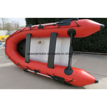 Rubber Folding Inflatable Boat with Outboard Motor