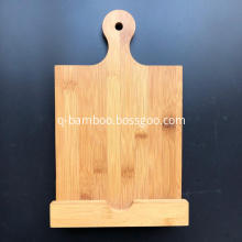Bamboo book holder for reading in kitchen