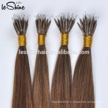 """8-32 """"pré-collé ongles U Tip 8A Réel Extensions de cheveux 1g / S 10g / pack de couleur foncée cheveux raides"""