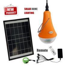 Batería recargable solar led iluminación con bombillas de LED 3 y móvil