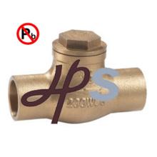 Válvula de retenção de material feminino Bronze C83600