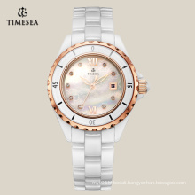 Leisure Ceramic Quartz Watch with Mother of Pearl Dial 71072