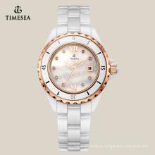 Досуг керамические часы с перламутровый Циферблат 71072