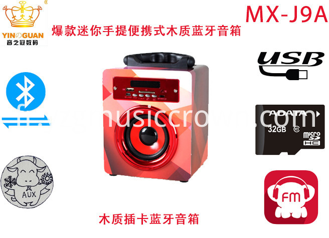 Wireless Pc Accessory Portable Usb Bluetooth Speaker Super Bass
