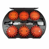 6 Pack Rechargeable LED Road Flares with LED flashlight
