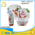 высокое качество пластиковые рождественские вечеринки посуда меламин набор