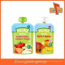 OEM Accepter une pochette de stand de liquide de maintien de qualité alimentaire avec bec verseur pour boisson / emballage de lait