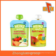 OEM Accept food grade stand up liquid stand up pouch with spout for beverage/milk packaging