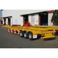 factory supply 3axle 40ft container trailer price, 40ft flatbed container semi trailer