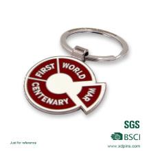 Chaînes principales adaptées aux besoins du client de rotation d'émail de logo pour le cadeau