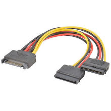 2x SATA Power Y Splitter Adapter Cable Lead
