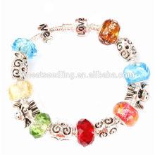 Alibaba promotion en gros Cadeaux Bracelet en perles de verre en Murano brisé à la main