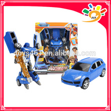 cheap car transform robot model toy plastic toy for kids
