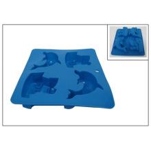 Molde de silicona en forma de barco y delfín (RS17)