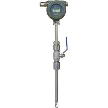Medidor de flujo de gas de masa térmica de inserción