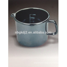 enamel milk pot for high quality with metal handle