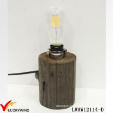 Старинная старинная винтажная деревянная настольная лампа