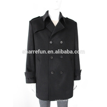Popular style men's 100% pure cashmere winter coat with factory wholesale