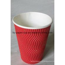 Prix de gros en vente libre de tasses en papier ondulé