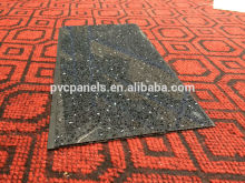 factory supply new product interior decoration pvc ceiling tiles black pvc plastic board