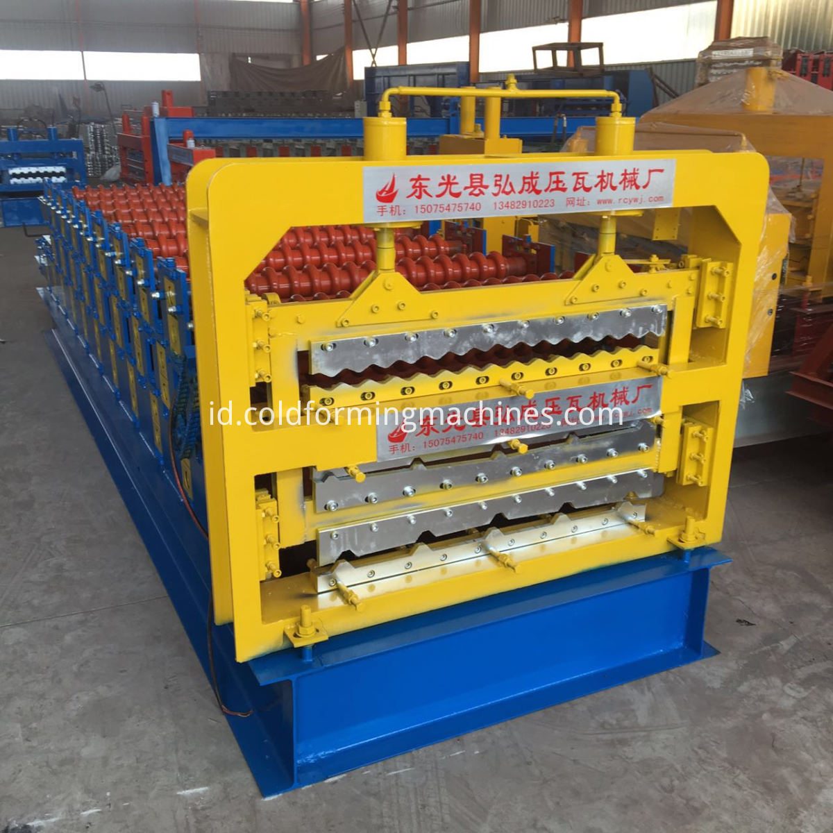 Three Deck Tile Roll Forming Machine 1