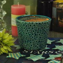 Tarro de cerámica decorativa