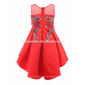 2017 элегантный короткий передний долго назад embroiedered платье день рождения для девочки 7 лет