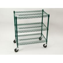 NSF Powder Coating Metal Trolley Rack para Restaurante / Hotel