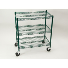 NSF Powder Coating Metal Trolley Rack for Restaurant/Hotel