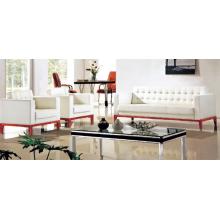Pitorescos conjuntos de sofás brancos puros para escritório disponível, Mobiliário de escritório para móveis (MX8571)