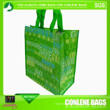 Grüne Supermarkttasche zum Einkaufen (KLY-PN-0046)