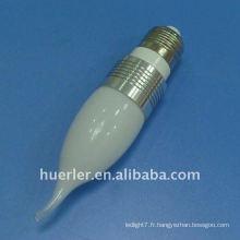 Bonne perle 3w e14 lumière de bougie réglable