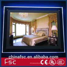 A1 a2 a3 a4 acrílico del cartel led slim caja de luz cristal