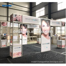 aluminum portable display stand, customize expo booth stand for trade show from SHANGHAI DETIAN FACTORY