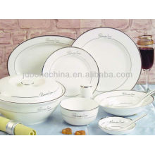 pure white high quality china dinner plates